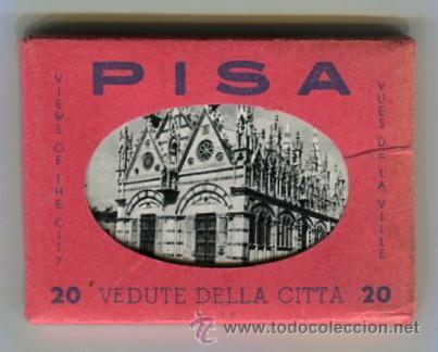 PISA CARPETA CON 20 FOTOGRAFIAS (COMPLETA) TAMAÑO 9 X 6 CMS (Fotografía Antigua - Ambrotipos, Daguerrotipos y Ferrotipos)