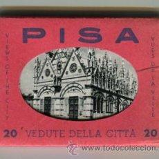 Fotografía antigua: PISA CARPETA CON 20 FOTOGRAFIAS (COMPLETA) TAMAÑO 9 X 6 CMS. Lote 50682458
