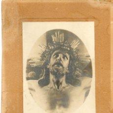 Fotografía antigua: ANTIGUA FOTOGRAFIA -SANTISIMO CRISTO DE LA AGONIA-QUE SE VENERA EN LIMPIAS-28 X 18 CENTIMETROS. Lote 50883248