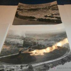 Fotografía antigua: 2 FOTOGRAFIAS AEREAS DE CENTRAL ELECTRICA DE ARAGON, ZARAGOZA,ESCATRON. Lote 51968368