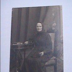 Fotografía antigua: FOTOGRAFIA ANTIGUA DE ANCIANA. 1890. EL VENDRELL. TARRAGONA. FOTOGRAFO GÜIXENS.. Lote 52769376