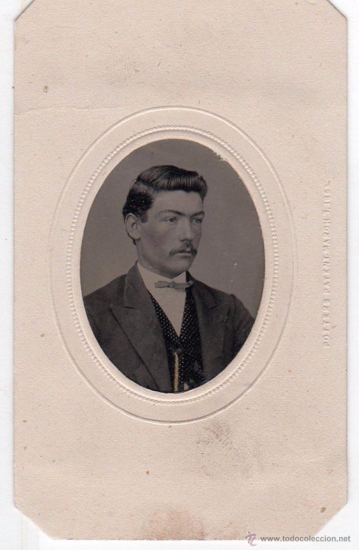 FERROTIPO COLOREADO A MANO 1870-1879. TIPO CDV. CARTA DE VISITA (Fotografía Antigua - Ambrotipos, Daguerrotipos y Ferrotipos)
