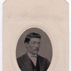 Fotografía antigua: FERROTIPO COLOREADO A MANO 1870-1879. TIPO CDV. CARTA DE VISITA. Lote 53939746