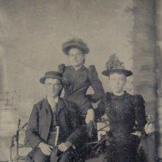 Fotografía antigua: FERROTIPO AMERICANO CA. 1880-89. Lote 54035654