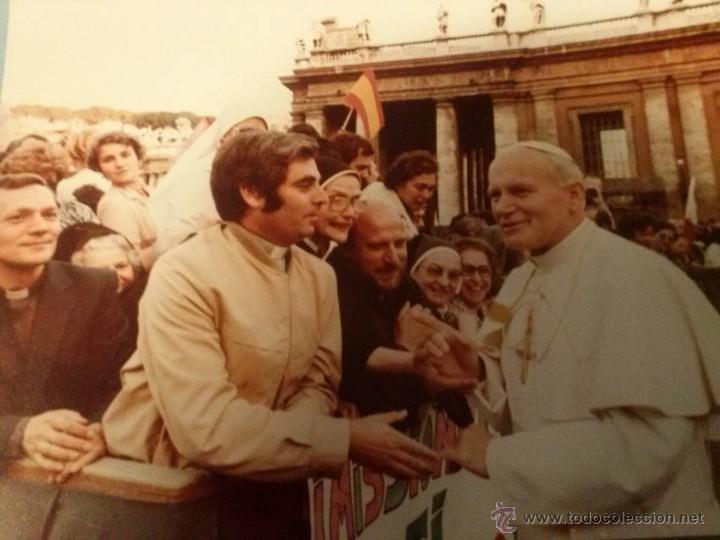 FOTOGRAFÍA ORIGINAL DE JUAN PABLO II EN EL VATICANO. AÑO 1980. (Fotografía Antigua - Ambrotipos, Daguerrotipos y Ferrotipos)