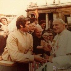 Fotografía antigua: FOTOGRAFÍA ORIGINAL DE JUAN PABLO II EN EL VATICANO. AÑO 1980.. Lote 55054928