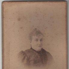 Fotografía antigua: FOTOGRAFÍA RETRATO DE SEÑORA FECHADO AL DORSO EN 1894 J ASTRAY PUERTA DEL SOL 4 MADRID. Lote 55321531