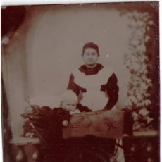 Fotografía antigua: ANTIGUO FERROTIPO, NURSE. 90X60 MM. . Lote 55369260