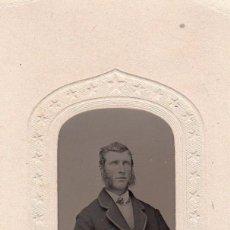 Fotografía antigua: FERROTIPO ÉPOCA GUERRA CIVIL AMERICANA 1860-1869. COLOREADO A MANO LAS MEJILLAS. USA. Lote 107063446
