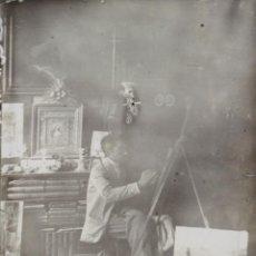 Fotografía antigua: FO-024. FOTOGRAFIA DE ALBUMINA. ESTUDIO DE PINTOR. SIGLO XIX. . Lote 57321449