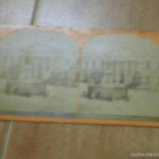 Fotografía antigua: ANTIGUA FOTOGRAFIA CONGRESO DIPUTADOS PALACIO LAS CORTES CIRCA 1890 PIEDRA KM 1 MADRID. Lote 58392058