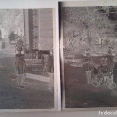 Fotografía antigua: LOTE 6 NEGATIVOS FOTOGRAFIA, NIÑAS NIÑOS JUGUETES, MONCADA VERANO 1955, VALENCIA, FOTO ALBUM NEGATIV. Lote 62072300