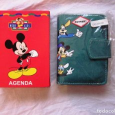 Fotografía antigua: AGENDA DE TELEFONOS TELEFONICA DE ANILLAS DE MICKEY FOR KIDS DISNEY. AÑOS 90. NUEVA. Lote 68132641