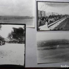 Fotografía antigua: LOTE FOTOS TROFEO ARMENGUE .CARRERA DE COCHES.-TARRAGONA AÑOS 20....BB. Lote 70526385