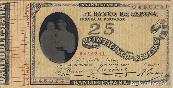DAGERROT. SEÑORA CON NIÑO SOBRE BILLETE DE BANCO DE ESPAÑA. 1899. RARO. FOT. L.CANUT.BARCELONA (Fotografía Antigua - Ambrotipos, Daguerrotipos y Ferrotipos)