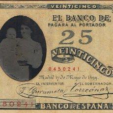 Fotografía antigua: DAGERROT. SEÑORA CON NIÑO SOBRE BILLETE DE BANCO DE ESPAÑA. 1899. RARO. FOT. L.CANUT.BARCELONA. Lote 72837503