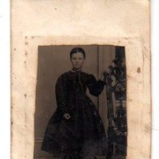 Fotografía antigua: ANTIGUA FOTOGRAFIA ,FERROTIPO,MUCHACHA, 11 X 7 CM.. Lote 74200907
