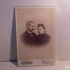 Fotografía antigua: FOTOGRAFIA ANTIGUA- NOVIOS O MATRIMONIO-FOTO DE MIGUEL OLIVENZA= BADAJOZ. Lote 75476403