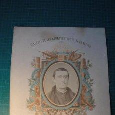 Fotografía antigua: GALERÍA DE LOS REPRESENTANTES DE LA NACIÓN. 1869. DON VICENTE DE MANTEROLA.. Lote 80164525