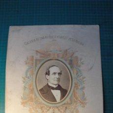 Fotografía antigua: GALERÍA DE LOS REPRESENTANTES DE LA NACIÓN. 1869. DON FERNANDO CALDERÓN COLLANTES. Lote 80164661