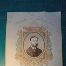 Fotografía antigua: GALERÍA DE LOS REPRESENTANTES DE LA NACIÓN. 1869. DON JUAN ÁLVAREZ DE LORENZANA.. Lote 80164773