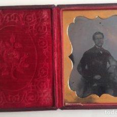 Fotografía antigua: UN CABALLERO POSANDO * GLASGOW * EN CAJA ACOLCHADA DE 12 CM X 9 CM * 1850*S . Lote 106559019