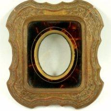 Fotografía antigua: MARCO DE PASTA CON PASPARTOUT PARA DAGUERROTIPO. VER FOTOS ANEXAS, 1850'S.. Lote 86226544