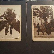 Fotografía antigua: FOTOGRAFIAS ANTIGUAS DE PAREJA EN ARCHENA, SOBRE CARTON, 30 X 18 CM.. Lote 90087800