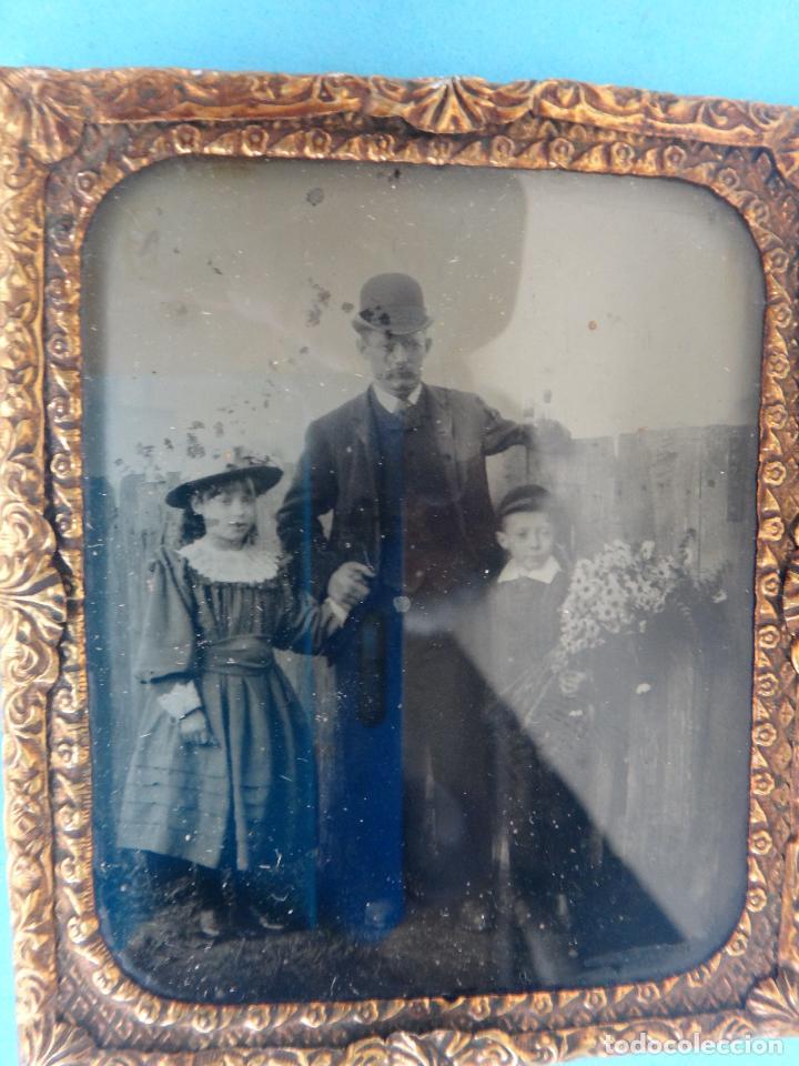 Fotografía antigua: DAGUERROTIPO O FERROTIPO , FOTO PADRE CON HIJOS , SIGLO XIX , ORIGINAL - Foto 5 - 93682280