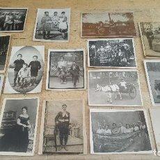 Fotografía antigua: 39 ANTIGUAS FOTOGRAFIAS DE PEQUEÑO FORMATO, SIMPATICAS E INTERESANTES. Lote 97773515