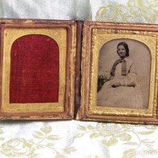 Fotografía antigua: AMBROTIPO (FOTOGRAFÍA SOBRE VIDRIO). REALIZADA POR WILLIAM BOSWELL 1839-1859. LONDRES. C/ MAGDALENA. Lote 99202263