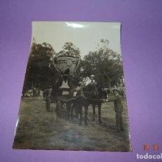 Fotografía antigua: ANTIGUA FOTOGRAFIA DE GRAN TAMAÑO CARROZA CON SEÑORITAS FERIA DE JULIO EN VALENCIA - AÑO 1900-1920S.. Lote 100747379