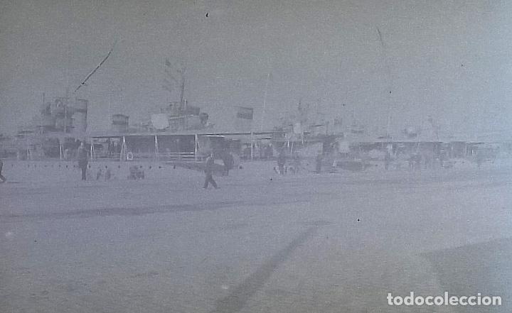 Fotografía antigua: NUMULITE FOTOGRAFÍA CRISTAL PUERTO BARCO EMBARQUE DESCONOCIDO - Foto 3 - 103332563