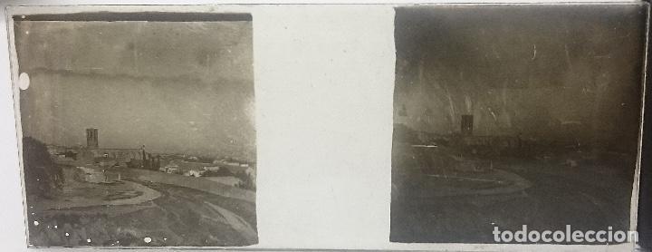 NUMULITE FOTOGRAFÍA CRISTAL ESTEREOSCÓPICO PUEBLO DESCONOCIDO (Fotografía Antigua - Ambrotipos, Daguerrotipos y Ferrotipos)