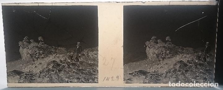 Fotografía antigua: NUMULITE FOTOGRAFÍA CRISTAL ESTEREOSCÓPICO BOSQUE JÓVENES EXPLORADOR PRISMÁTICOS - Foto 3 - 103334419