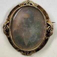 Fotografía antigua: BROCHE CON DAGUERROTIPO, 1850'S. 5X5 CM.. Lote 105151207