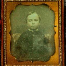 Fotografía antigua: DAGUERROTIPO DE NIÑO, TAMAÑO CAJA: 8 X 9,5 CM.. Lote 108043907