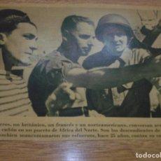 Fotografía antigua: TELEX FOTO PARA PERIODICOS 2 GUERRA GRALES. WORLD WAR 2. Lote 110410243