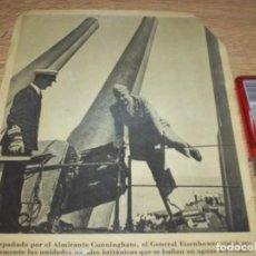 Fotografía antigua: TELEX FOTO PARA PERIODICOS 2 GUERRA GRAL.EISENHOWER WORLD WAR 2. Lote 110410871