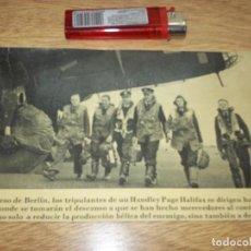 Fotografía antigua: TELEX FOTO PARA PERIODICOS 2 GUERRA . WORLD WAR 2 PILOTOS WORL WAR 2. Lote 110412995