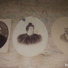 Fotografía antigua: 3 ANTIGUAS FOTOGRAFIAS DE ESTUDIO, 10 CM.. Lote 115063367