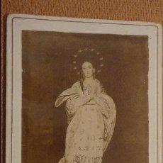 Fotografía antigua: ANTIGUA FOTOGRAFIA DE VIRGEN O SANTA SIN IDENTIFICAR.FINALES DEL XIX O PPIOS DEL XX. Lote 115738139