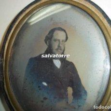 Fotografía antigua: FOTOGRAFIA ANTIGUA.DAGUERROTIPO.AMBROTIPO.SEÑOR CANARIO.CIRCA 1850.8 CM X 7 CM.TENERIFE.CANARIAS. Lote 117729091