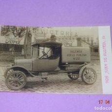 Fotografía antigua: FOTOGRAFIA DE CAMIONETA Y DOCUMENTOS COMPRA DE ESTA POR LA DIPUTACIÓN PROVINCIAL VALENCIA AÑO 1925. Lote 118404839