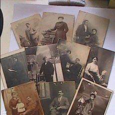 Fotografía antigua: LOTE DE 10 FOTOGRAFIAS RETRATOS DE POSADOS. 1900-1915. DIFERENTES FOTOGRAFOS.BARCELONA-TARRAGONA.. Lote 118723683