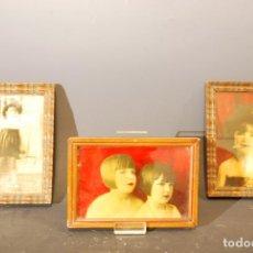 Fotografía antigua: FOTOGRAFIAS ORIGINALES INTERVENIDAS DE NIÑAS VESTIDAS DE BURLESQUE.. Lote 119858619
