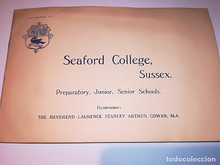 Fotografía antigua: Cuaderno publicitario colegio Seaford (1920-1928) con 6 fotos originales. - Foto 4 - 121452903