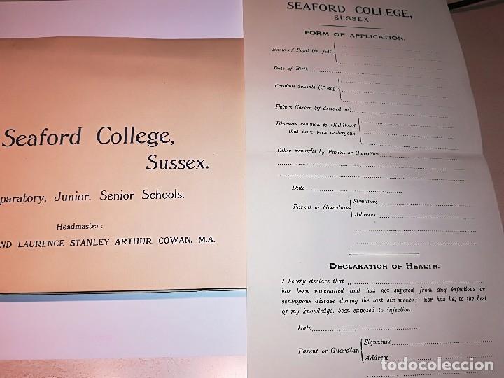Fotografía antigua: Cuaderno publicitario colegio Seaford (1920-1928) con 6 fotos originales. - Foto 6 - 121452903