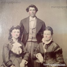 Fotografía antigua: NEW BILLY THE KID AND SALLIE CHISUM AND ? TINTYPE / FERROTYPE ORIGINAL XIX. Lote 122643183