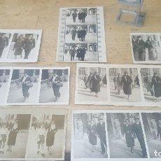Fotografía antigua: 7 FOTOGRAFIAS EN SECUENCIAS, GENTE PASEANDO, AÑOS 20 Y 30. Lote 126776579